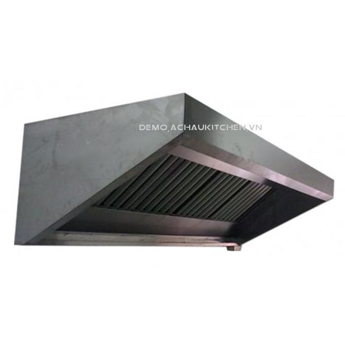 Chụp hút khói bếp inox, chụp hút khói bếp công nghiệp hình chữ nhật (1)