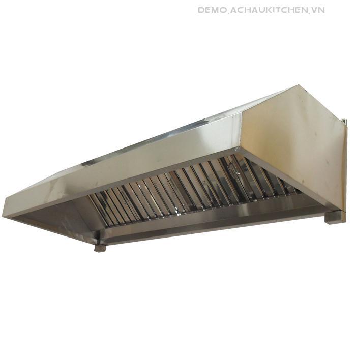 Chụp hút khói bếp inox, chụp khói hình thang (1)