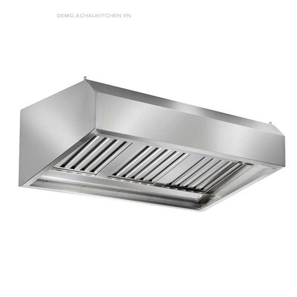 Chụp hút khói bếp inox, chụp hút khói bếp công nghiệp hình chữ nhật (2)